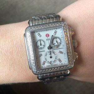 Michele Diamond Deco Watch with bracelet